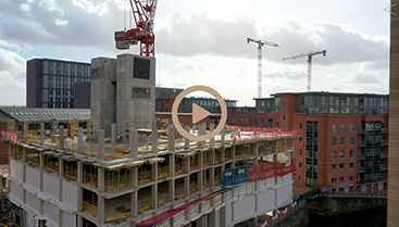 GMI Excelsior Manchester Drone video service for Construction
